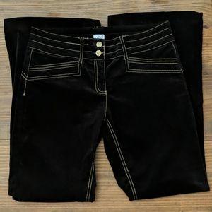 CACHE Velvet Flare Leg Pants